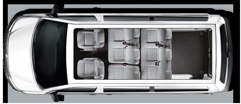 Pronajem mikrobus Volkswagen Caravelle Long